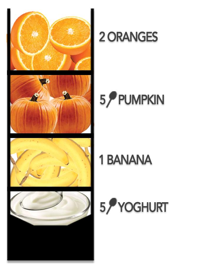 Fruit Smoothie Oranges Pumpkin Banana Yoghurt