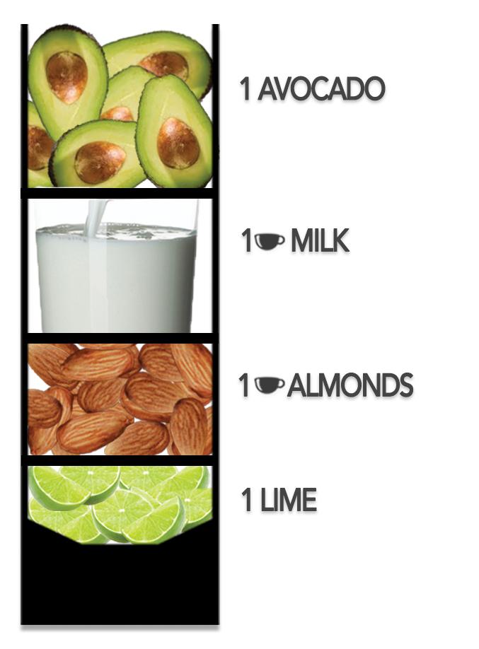 Fruit-Smoothie-Avocado-Milk-Almonds-Lime