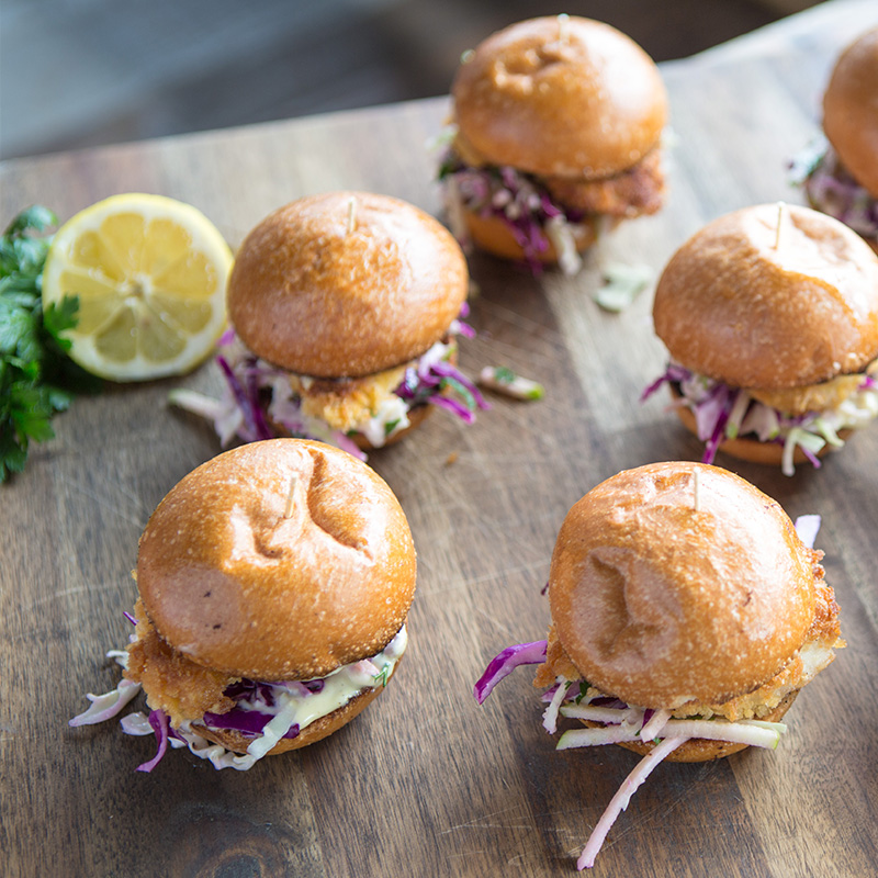 Freerange Chicken Schnitzel Brioche Burgers With Crunchy Apple Slaw And Dijon Aioli Myfacemybody