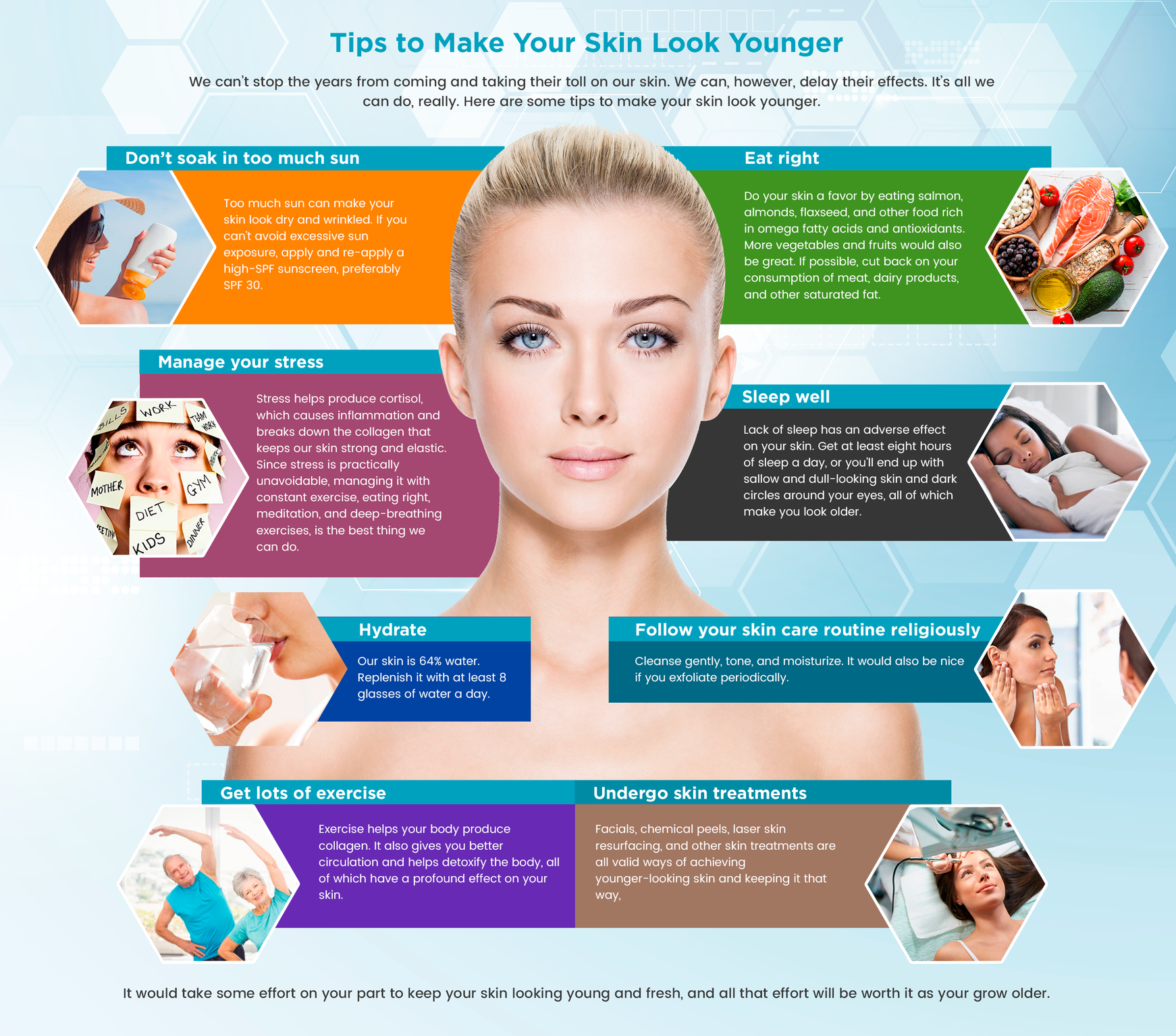 Skin Care Infographic: Tips To Make Your Skin Look Younger [Infographic